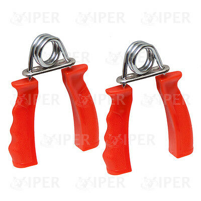 Hand Gripper Strengthener Red Forearm Exerciser Wrist Fitness Gym Pair RED