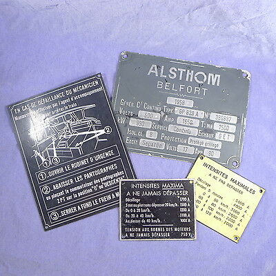 Lot de plaques sncf locomotive train