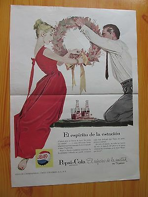 Pepsi-Cola Advertising 1952 Published In A Latin American Magazine