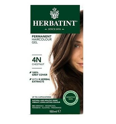 Herbatint Permanent Hair Colour 4N Chestnut