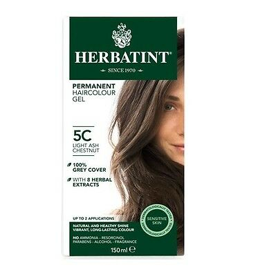 Herbatint Permanent Hair Colour 5C Light Ash Chestnut