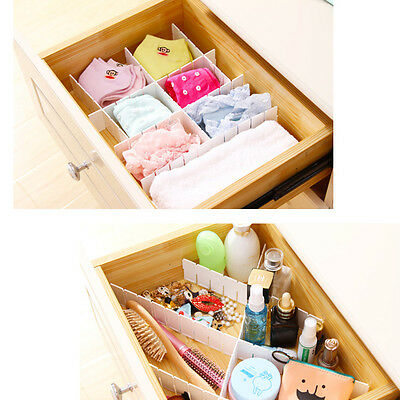 Adjustable Drawer Organizer Home Kitchen Board Divider Makeup Storage Box NEW
