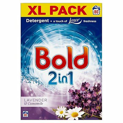 Bold 2in1 Washing Powder Fabric Softener Lavender & Camomile 80 Washes Value Bag