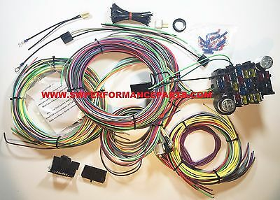21 circuit 17 fuses ez wiring harness chevy mopar ford hot rod new 21 circuit ez wiring harness chevy mopar ford hotrods universal x long wires