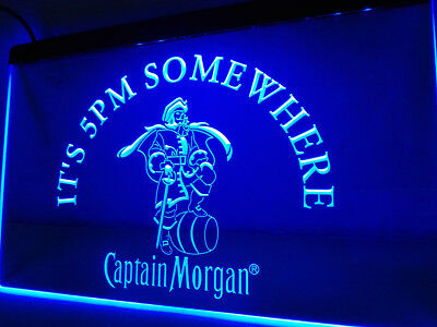 Captain Morgan LED Neon Sign rum alcohol Bar Room hanging sign decor