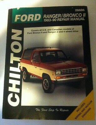 Chiltons Ford Ranger/Bronco II Repair Manual USED. 1983 to 1990 Models