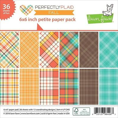 Lawn Fawn - Petite Paper Pack - Fall - Perfectly Plaid
