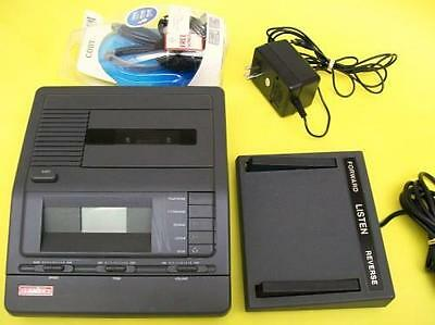 LANIER VW 110 Cassette Transcriber 2 speed playback, ac, pedal, headset WARRANTY