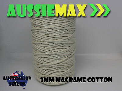 3mm Macrame 100% Natural Cotton 235 Meters