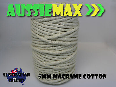 5mm Macrame 100% Natural Cotton 75 Meters