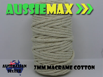 7mm Macrame 100% Natural Cotton 58 Meters