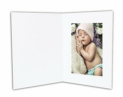 ANGEL PRINT Cardboard Photo Folder For a 4x6 Photo (Pack of 50) GS007 White