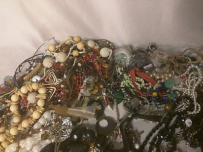 17.5 pounds Junk Jewelry Lot Craft Resale Lot