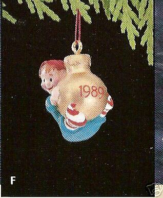 1989 Hallmark Load Of Cheer Dated Miniature Ornament