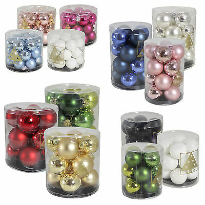 Christmas Tree Decoration Glass Baubles - 25mm 30mm 40mm or 60mm