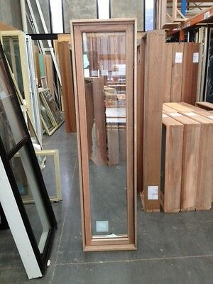 Timber Awning Window 1800h x 450w- Double Glazed Toughened (BRAND NEW IN STOCK)