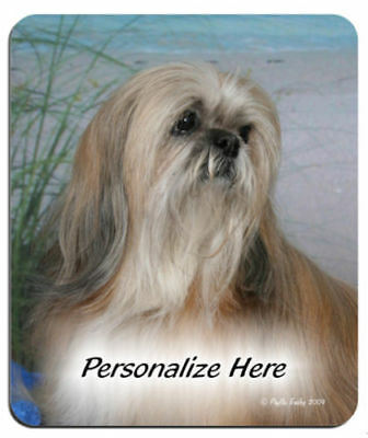 Lhasa  Apso   beach  Personalized   Mouse  Pad