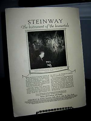 Steinway Piano - Instruments of the Immortals 1923 Mentor Mag Advertising Sheet