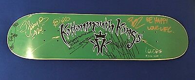 vintage HAND SIGNED Kottonmouth Kings PROMO SKATEBOARD DECK autograph UNUSED ICP