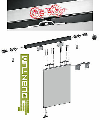 Top Hung Sliding Door Track Gear System Kit - Tracks 2000mm and 3000mm