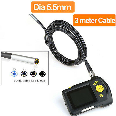 """2.7"""" TFT LCD Video Borescope Car Pipe Inspection Camera Endoscope 360° Rotation"""