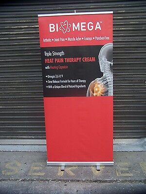 """36"""" x 72"""" Retractable Banner Stand Wholesale RollUp Trade Show Display With Case"""