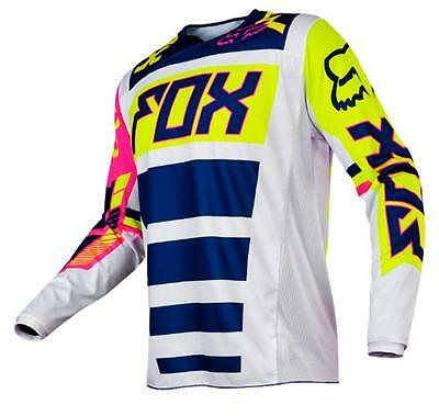 Fox 2017 Mens 180 Falcon Mx Jersey Navy / White Mens Xxl