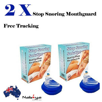 2x HIGH QUALITY STOP SNORING Anti Snore Sleep Apnea Mouth Guard Mouthpiece