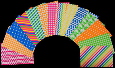 """Bright & Colourful *NEON* Scrapbooking/Cardmaking Papers - 15cm X 10cm (6"""" x 4"""")"""