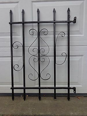Vintage Wrought Iron Gate Panel Fence Architectural Salvage Guard  B