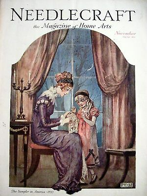 "Vintage Nov.1929 ""Needlecraft Magazine"" - Darling Cover by Reginald Ward *"