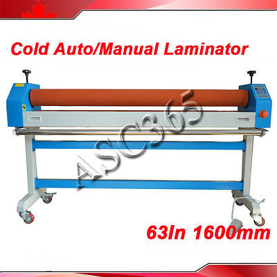 US Seller 63In 1600MM Automatic iElectric/Manual Cold Laminating Machine Wide