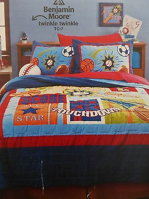 Circo Score! Collection Sports Complete Full Quilt Set NIP