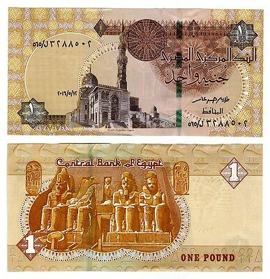 Egypt 2016 One Pound Uncirculated Note