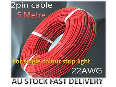 5M 22AWG 0.3mm² 2 Pin extension cable wire for single colour LED strip lights
