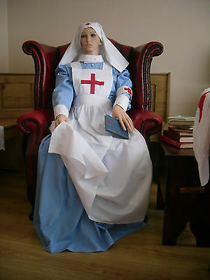 WW1 NURSE COSTUME UNIIFORM VAD RED CROSS FIELD NURSE custom made  S - M - L