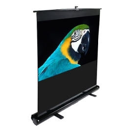 """Elite 100"""" Portable 16:9 Pull-Up Projector Screen, Floor Pull Up (F100Nwh)"""