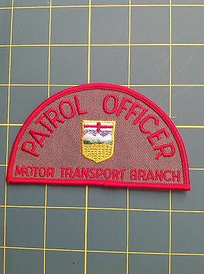 Canada Police Patch Alberta Patrol Officer