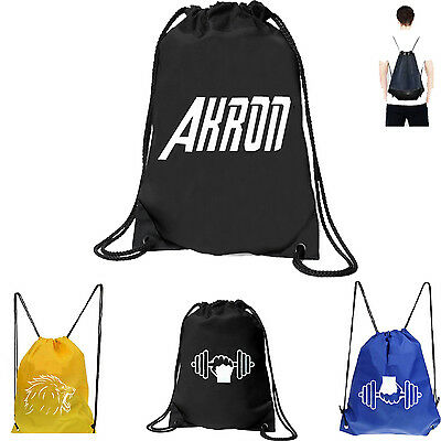 Drawstring gym backpack Cinch Sack Tote Sports Bag Travel Fitness Pack