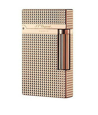 In box Dupont lighter S.T Memorial Bright Sound  Rose Gold