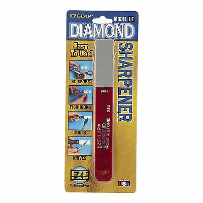 Eze-Lap DIAMOND FINE STONE SHARPENER 600-Grit Hone, Easy Use RED - USA Made