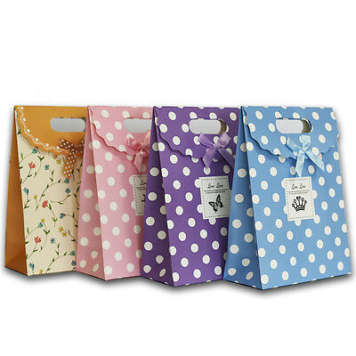 Paper Bag With Handles Wedding Birthday Christmas Gift Coloured