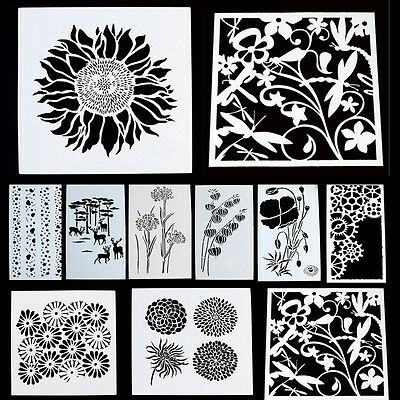 Painted Stencil Airbrush Painting Art DIY Home Decor Scrapbooking Album Craft