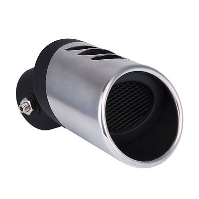 Universal Stainless Steel Car Truck Round Silver Exhaust Pipe Tail Muffler Tip