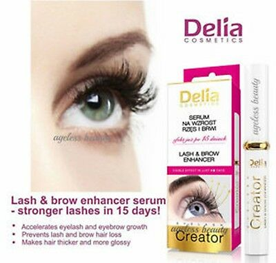 TOP Delia Eyelash Creator Lash and Brow Enhancer Visible Effect In Just 15 Days