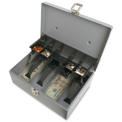 Sparco 5 Compartment Tray for Bills Coins Cash Box Register Drawer Money Lock
