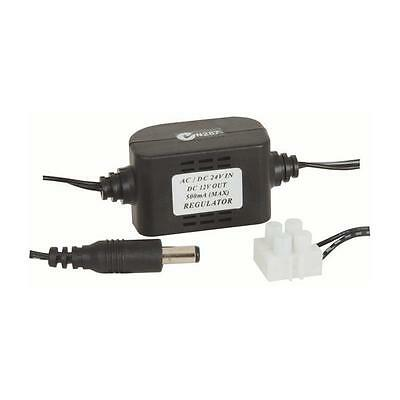 AC DC 24V to DC 12V 300mA 0.3A Regulated Power Supply Adapter 5.5mm x 2.1mm Plug