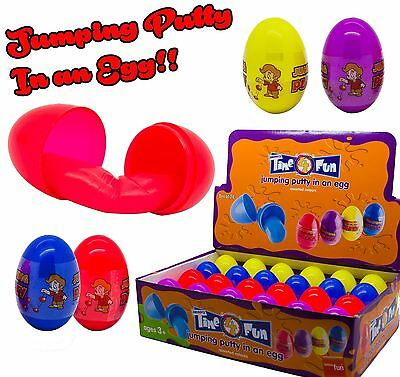 Traditional Games Jumping Bouncing Putty Egg Tubs, Pot, Boys, Girl, Girls Kids