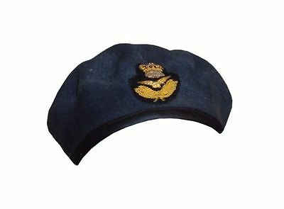British Army - RAF Officers Beret - Size 54cm - Grade 1 -With Badge - SP554