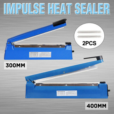 2018 Impulse Heat Sealer Sealing Machine Electric Plastic Poly Bag 300mm/400mm